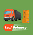 fast delivery concept vector image vector image