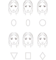 Female face set vector image vector image