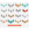 Fences Types Icons Isometric Transparent Set vector image vector image