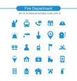fire department icons set vector image