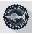 fish seal ocean traveler icon vector image vector image