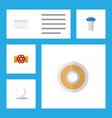 flat icon industry set of radiator pump valve vector image vector image