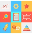 Flat icons for process of outsourced vector image vector image