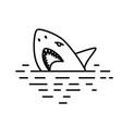 flat linear shark vector image vector image