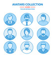 flat modern minimal line avatar icons business vector image vector image