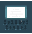flat style of people watching movie vector image vector image