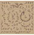 Floral doodle set decorations Elements