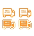 Free shipping delivery icon set vector image