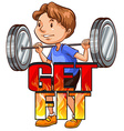 Get fit logo with athlete vector image
