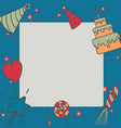gift boxes happy birthday in square vector image vector image