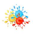 glitter goo splash red yellow and blue slime vector image