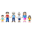 happy families cartoon vector image vector image