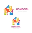 House logo design Creative real estate symbol or vector image vector image