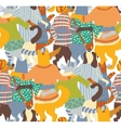 Hug pets dogs and cats back seamless pattern vector image