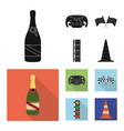 isolated object of car and rally icon set of car vector image vector image