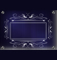 lacy frame for photography on a blue background vector image vector image