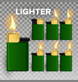 lighter fire object blank 3d realistic vector image