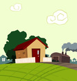 little house vector image