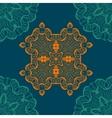 Mandala-like open-work seamless texture Hand vector image vector image