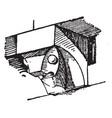 medieval console wall vintage engraving vector image vector image