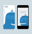 mobile phone design blue whale vector image vector image