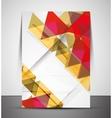 Multipurpose CMYK geometric print template vector image vector image