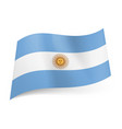 national flag of argentina central white stripe vector image