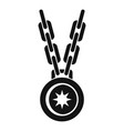 necklace medallion icon simple style vector image vector image