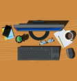 office space vector image