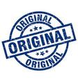 original blue round grunge stamp vector image vector image
