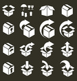 Packaging boxes icons set pack simplistic symbols vector image vector image
