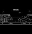 panama silhouette skyline city panamanian vector image