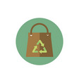 paper shopping bag recycle green energy block icon vector image vector image