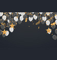party shiny banners with air balloons and vector image vector image