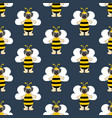 pug in bee costume seamless pattern vector image vector image