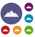 pyramids icons set vector image vector image