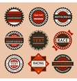 Racing labels - vintage style vector image vector image