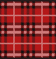 red and black lumberjack background vector image
