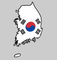 republic of south korea rok simplified map vector image