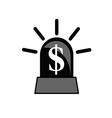 rotating beacon dollar vector image