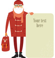 Santa Claus hipster vector image vector image