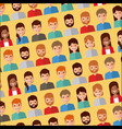Seamless pattern people avatar character icons