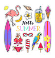 set of fashion summer stickers 1 vector image vector image