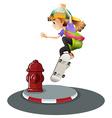 Skateboarding vector image vector image