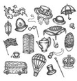 sketch of london symbols objects symbolizing vector image vector image
