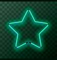star-shaped bright turquoise neon frame template vector image vector image