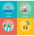 Summer Holidays Banner Set vector image