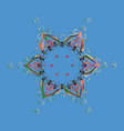 symbol of winter snowflake winter isolated vector image vector image