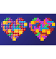 tetris hearts vector image vector image