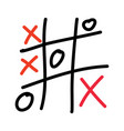 tic tac toe xo game vector image